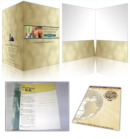 "Click to View our 9"" x 12"" Presentation Folder Samples"