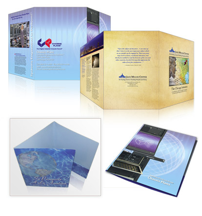 Click to View our Tri-fold Presentation Folder Samples